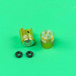Valve caps set piston model gold