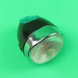 Headlight round black Puch Maxi