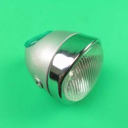 Headlight round silver grey Puch Maxi