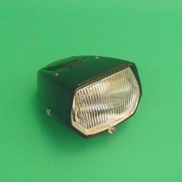 Headlight unit square black Puch Maxi
