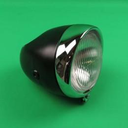 Headlight round big black Puch Maxi