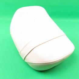 Dual-seat saddle white Puch Maxi